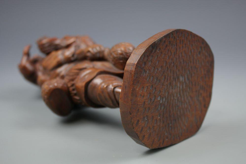 木彫農夫親子像の画像3