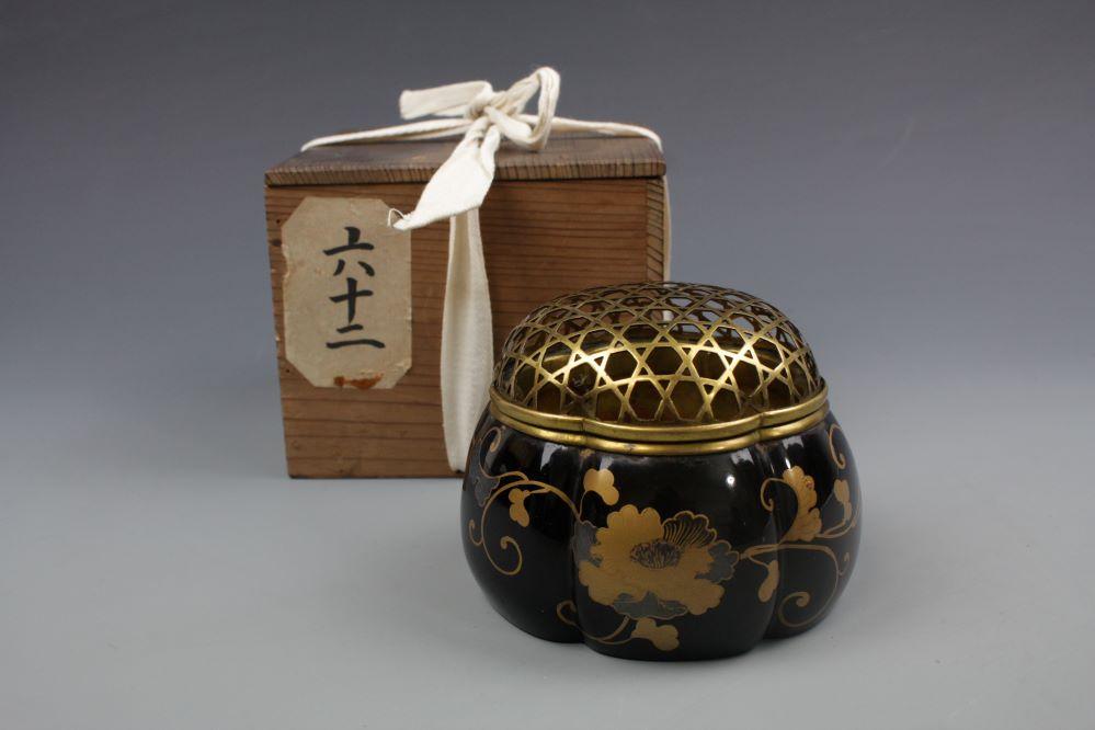 時代蒔絵阿古陀香炉の画像1