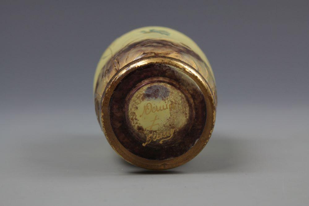 ナンシードーム金彩草花紋小壺の画像2