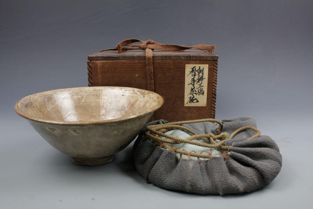 朝鮮三嶋 暦手茶碗の画像1